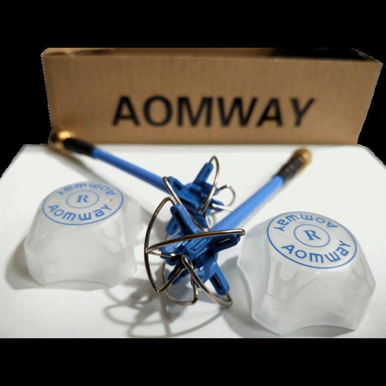 AOMWAY 5.8G 3dBi Four Lobe RHCP VTx/VRx Antenna Multimotor SMA