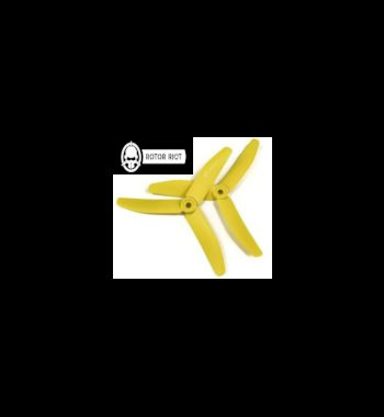 HQPROPS Triple Blade 5X4X3 Rotor Riot Pack (Yellow)