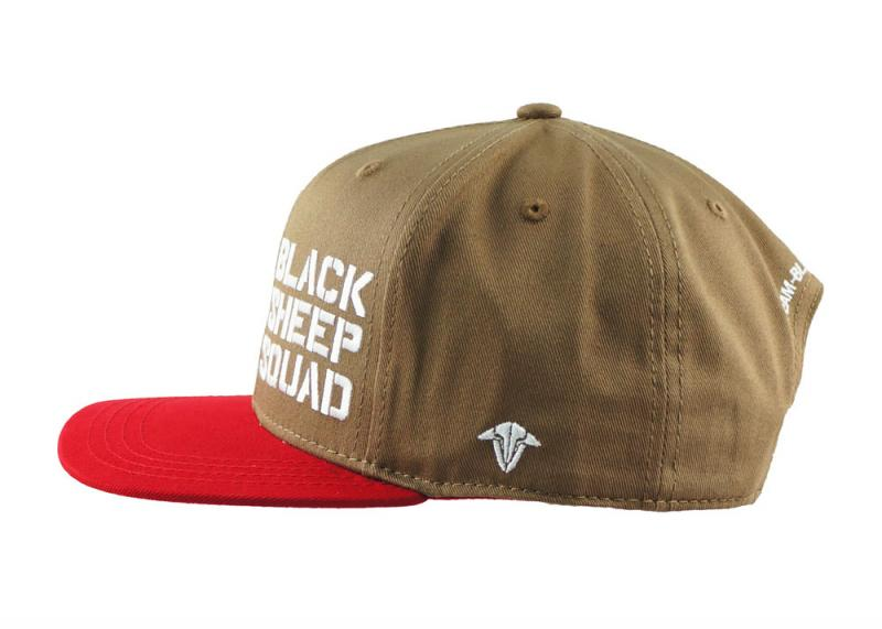 66efa8adccf Black sheep squad cap · TBS Cap Red and Brown other side
