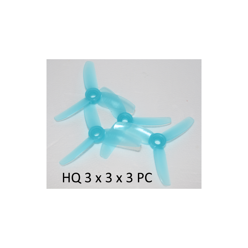HQ Durable Prop 3X3X3 Light Blue (2CW+2CCW)-Poly Carbonate