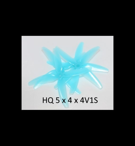 """HQ Durable Prop 5x4x4V1S Light Blue(2CW+2CCW)-Poly Carbonate """"Chad Props"""""""