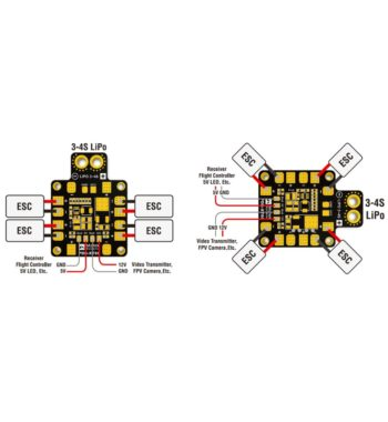 Matek PDB XT60 w/BEC (5V and 12V)