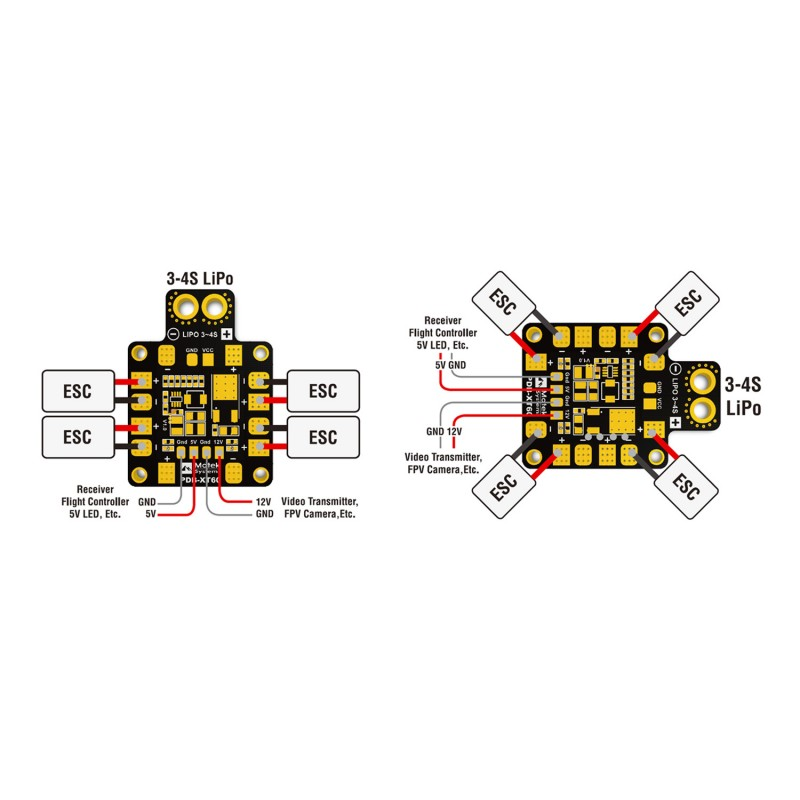 matek pdb xt60 w bec 5v and 12v multirotor shop rh multirotorshop com au