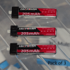AGA Power 1S 205MaH 25C High Grade Lipo Pk of 3