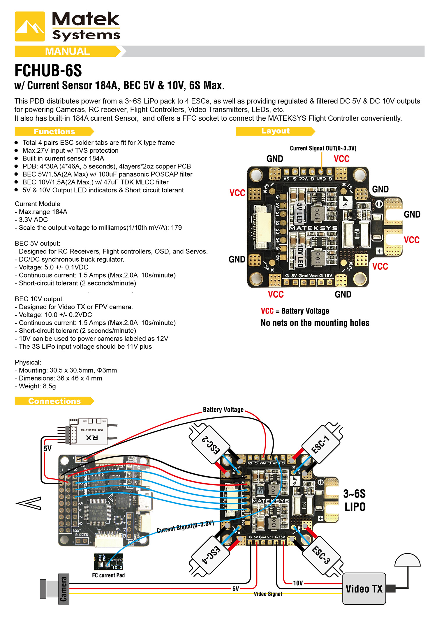 Fchub S Manual on Cc3d Esc Wiring Diagram