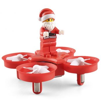 Flying Santa Claus Drone with Music